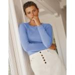 Cashmere Crew Neck Sweater - Gulf Blue