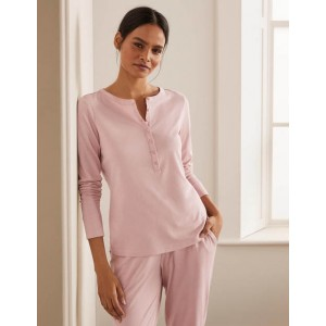 Alba Jersey Pajama Top - Milkshake