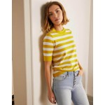 Abingdon Knitted Tee - Chartreuse/Ivory