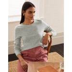 Cashmere Crew Neck Sweater - Grey Melange