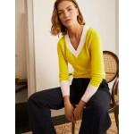 Oakley Cashmere V-Neck Sweater - Chartreuse Colourblock