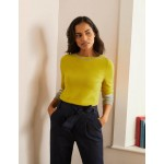 Dunmore Boat Neck Sweater - Chartreuse
