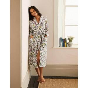 Janie Dressing Gown - Ivory, Beautiful Garden