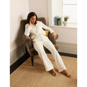 Janie Pajama Bottoms - Ivory, Pineapple Rainbow
