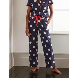 Phoebe PJ Pants - French Navy, Regular Dot