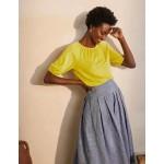 Tabitha Linen Jersey Top - Chartreuse