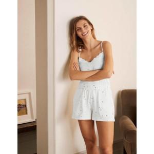 Emma Pajama Shorts - Ivory, Scattered Spot