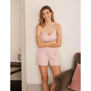 Emma Pajama Shorts - Milkshake, Scattered Spot