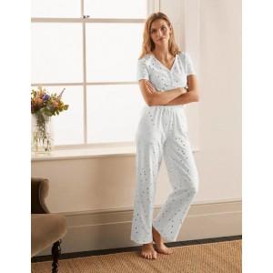Waist Detail Pyjama Trousers - Ivory, Scattered Spot