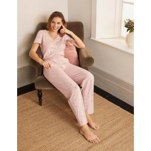 Waist Detail Pyjama Trousers - Milkshake, Scattered Spot