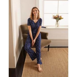 Waist Detail Pyjama Trousers - Navy, Scattered Spot