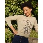 Kesteven Cashmere Sweater - Oatmeal Melange, Toucan