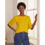 Pretty Sleeve Knitted Tee - Daffodil