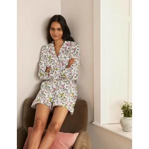Janie Pyjama Shorts - Ivory, Beautiful Garden