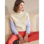 Relaxed Rib Sleeveless Sweater - Ivory