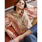 Blouson Sleeve Blouse - Old Rose, Intricate Tapestry