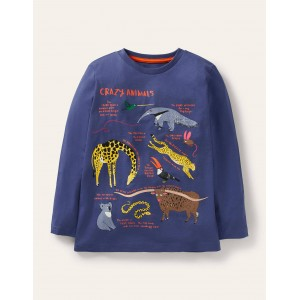 Educational Graphic T-shirt - Starboard Blue Crazy Animals