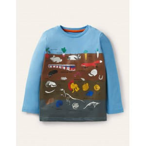 Educational Graphic T-shirt - Surfboard Blue Ground Layers