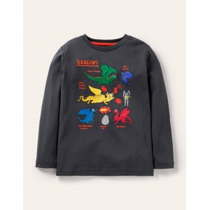 Glowing Magical T-shirt - Soot Grey Dragon Species