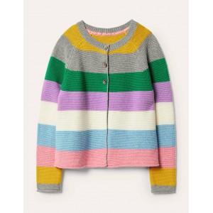 Cotton Cashmere Mix Cardigan - Multi Stripe