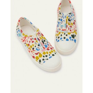 Laceless Canvas Pull-ons - Multi Leopard