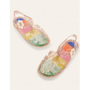 Jelly Shoes - Clear Glitter