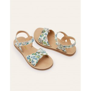 Leather Knot Sandals - Boto Pink Meadow Floral