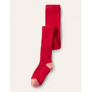 Ribbed Tights - Rockabilly Red
