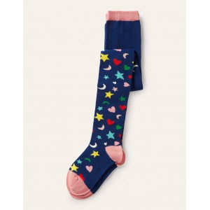 Patterned Tights - Stars Hearts and Moons