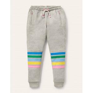 Warrior Knee Sweatpants - Grey Marl Rainbow