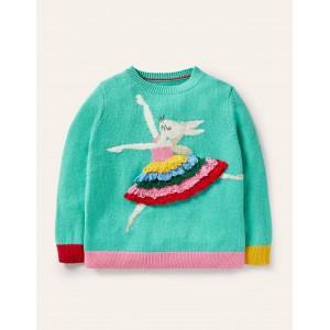 Fun Sweater - Brook Blue Ballerina Bunny