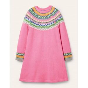 Lucy Dress - Bright Petal Pink