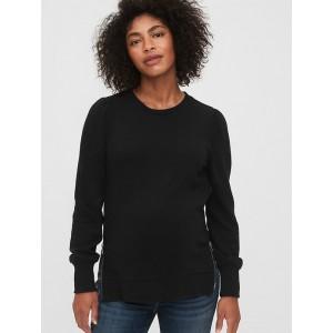 Maternity Nursing Side-Zip Puff Sleeve Sweatshirt