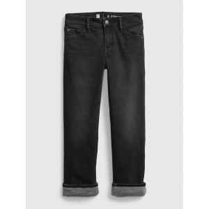 Kids Recycled Lined Straight Jeans with Stretch