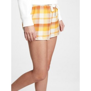Flannel Pajama Shorts