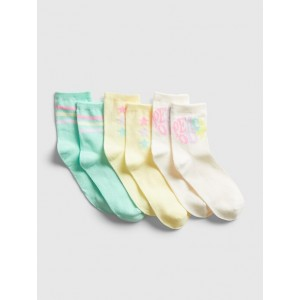 Kids Graphic Crew Socks (3-Pack)