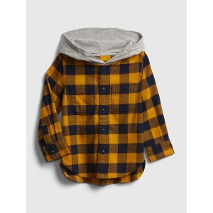 Toddler Plaid Hoodie Shirt