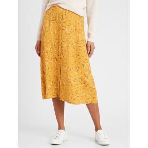 Petite Button-Front Midi Skirt