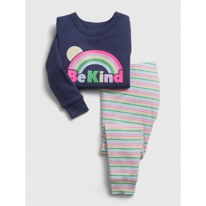 babyGap Organic Be Kind Graphic PJ Set
