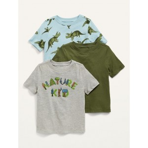 Unisex 3-Pack Short-Sleeve Tee for Toddler