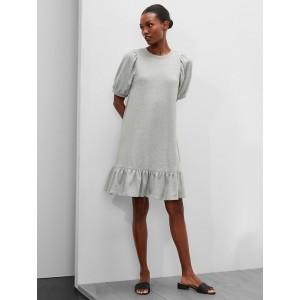 Petite Puff-Sleeve Knit Shift Dress