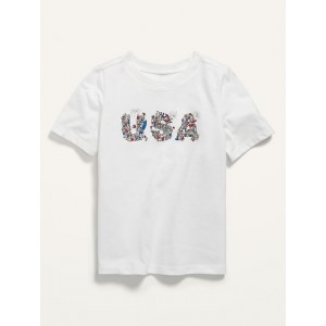 Matching Graphic USA Tee for Toddler Boys