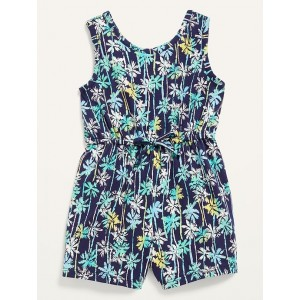 Sleeveless Printed Jersey Romper for Toddler Girls