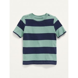 Vintage Short-Sleeve Striped Tee for Toddler Boys