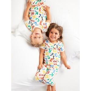 Unisex Printed Pajama Set for Toddler & Baby