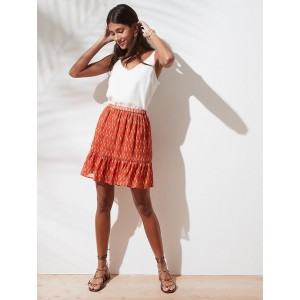Fit-and-Flare Mini Skirt