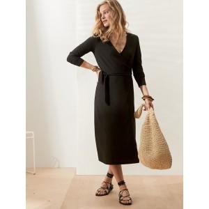 Petite Knit Wrap Dress