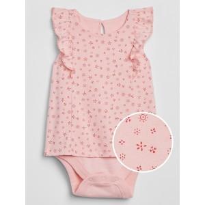 Baby Print Ruffle Bodysuit