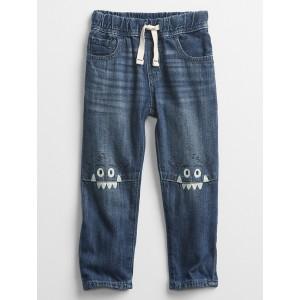 Toddler Pull-On Monster Slim Jeans