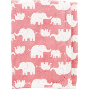 Elephant Fuzzy Plush Blanket
